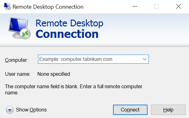 Remote Desktop Windows 10
