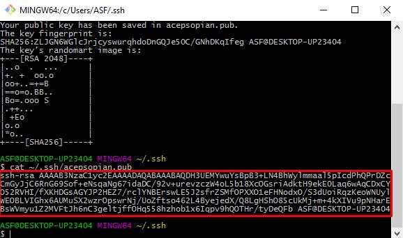 Generating SSH Public Key