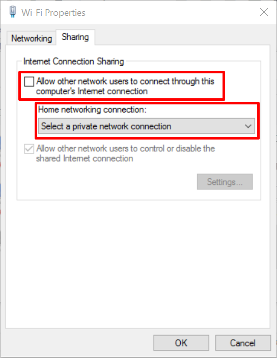 sharing network hosted