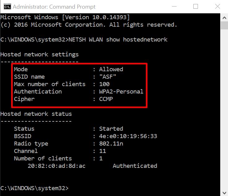 ssid jaringan hosted network
