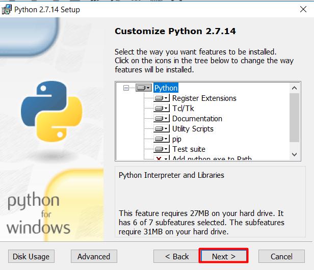 install python langkah 3