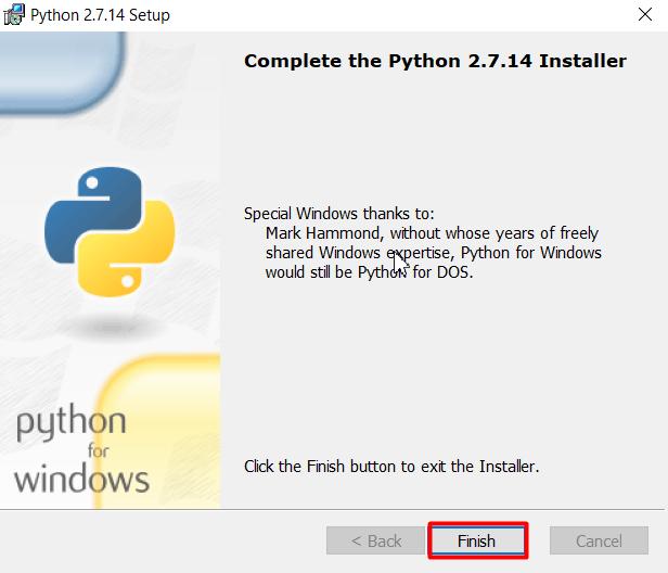 selsai install python