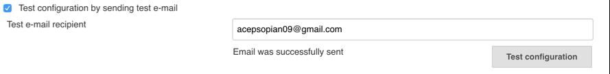 email sukses terkirim
