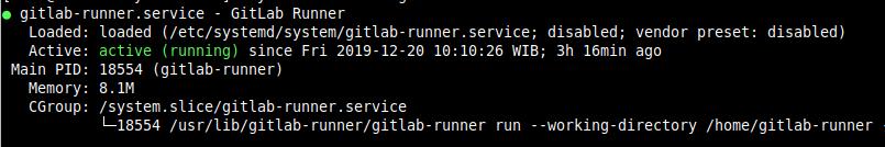 Gitlab Runner Status